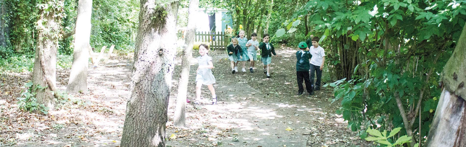 Children exploring grounds at COVP